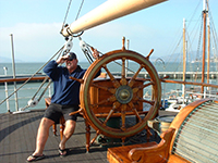 On the Balclutha at the historic ships on Hyde Pier